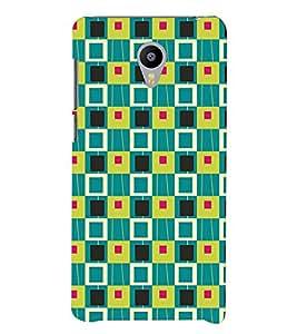 Printvisa Multicolour Square Patterns Back Case Cover for Meizu m3