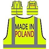 Made In Polen Lustige Neuheit Neu Personalisierte High Visibility Gelbe Sicherheitsjacke Weste i10v