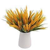 Künstliche Lotosblumen jarown Pflanzen Golden Wheat Paddy Zweige Fruits Getreide für Zimmer Büro Dekoration