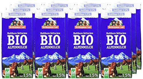 Berchtesgadener Land Bio Haltbare Bio-Alpenmilch 1.5{b90677861a7613f96b244f4ba9a3b118af1d1918ac150b8e7648d09654e97b14} Fett, 12er Pack (12 x 1l)
