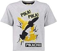 Pokèmon Camiseta Lentejuelas Reversibles para Niños | Top De Algodón Gris De Pikachu En Lentejuelas Negras Y D