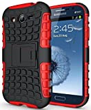 AA19 Samsung Galaxy Grand 2 G7016 , Flip Kick Stand Spider Hard Dual Rugged Armor Back Case For Samsung Galaxy Grand 2 G7016 - Hot Red