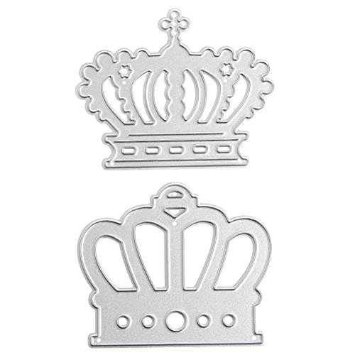 FXCO 2 STÜCKE Crown Stanzformen Schablonen DIY Scrapbook Album Papier Karte Präge Handwerk