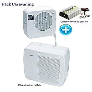Pack Climatiseur mobile Mistralvan 2240 + Convertisseur 12-220 Volts 1000 W
