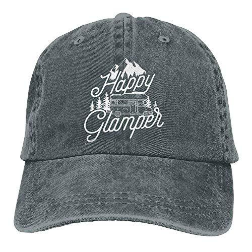 Happy Glamper 3 Denim Hat Adjustable Mens Washed Baseball Hats