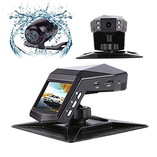 MIMI KING Dash Cam, Auto-Kamera-Dual-Objektiv/Single-Objektiv Full HD 1296P, HD-Nachtsicht, 170 ° Großer Weitwinkel, WDR, G-Sensor, Loop-Aufnahme, Enthält 32G-Speicherkarte, Parfüm-Recorder,Dualvideo