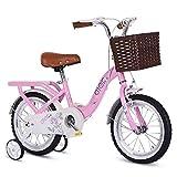 KY Vélo Enfants Les Enfants de Fille vélo en Taille 12' 14' 16' 18' 20' avec Stabilisateurs et Panier (Size : 14inch)