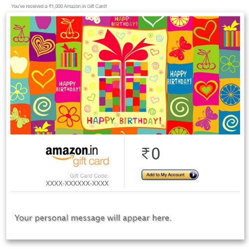 Amazonin Gift Cards Offer
