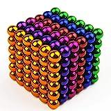 H.L Buck Ball, 5Mm216 Cubo de Color Escultura de Bola Edificio de Bricolaje Desarrollo de Inteligencia para niños Juguetes educativos para Adultos Artes de descompresión,Color