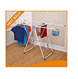 #3: Parasnath Winsome Indoor/Outdoor Cloth Drying Stand For Home / Durable & Light Weight / Long & Extended- (Lifetime Warranty*MADE IN INDIA)
