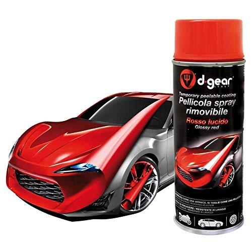 D-GEAR Vernice-Pellicola Spray Rimuovibile, Rosso Lucido