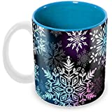 Tuelip Beautiful Printed Freeze Pattern Inner Blue For Tea And Coffee Ceramic Mug 350 ML