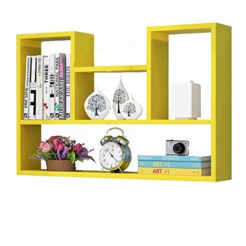 Modernen Minimalistischen Kreative Schlafsaal 90 * 20 * 75 cm Wand Rack Hängen Bord Schlafzimmer Bücherregal Wand Hängen Wandschrank Wandförmigen Partition stapel (Farbe : 1) -