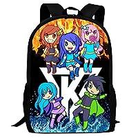 XKYZTKB Its-Funn-eh Full Printed School Book Bag for Boys Girls