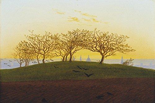 Artland Alte Meister selbstklebendes Premium Wandbild Caspar David Friedrich Bilder 80 x 120 cm Hügel mit Bruchacker bei Dresden Kunstdruck Wandtattoo Romantik R0JR