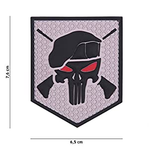 """Patch 3D PVC Punisher """"Commando"""" Gris / Cosplay / Airsoft / Camouflage …"""