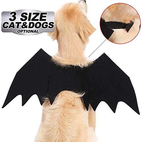 LAK Halloween Pet Dog Costume Vampire Wings Fancy Dress,Pet Hund Bat Wings Katze Fledermaus Kostüm Katze Fledermaus Kostüm,60 * (Fancy Hunde Kostüm)