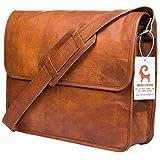 Urban Leather Executive Business Tasche für Herren & Damen, Messenger Bag, Leder, Arbeits- / Laptop-Tasche, Geschenk für Jungen, Fre&, Neue Job, Größe 38,1 cm