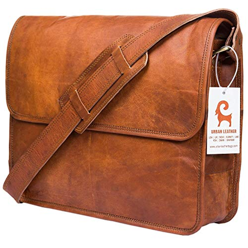 Urban Leather Executive Business Tasche für Herren und Damen, Messenger Bag, Leder, Arbeits- / Laptop-Tasche, Geschenk für Jungen, Freund, Neue Job, Größe 38,1 cm -