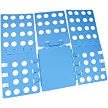 Sumersha, tavola piega abiti, piega t-shirt, tavola piega abiti regolabile, piega velocemente magliette, pantaloni, camicie, asciugamani e maglioni, di colore blu