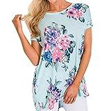 Lucky Mall Gestreiftes Damenoberteil, Frauen Casual T-Shirt,O-Neck-Tops für Bandagen