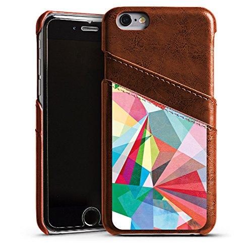 Apple iPhone 5s Housse Étui Protection Coque Cristal Arc-en-ciel couleurs Étui en cuir marron