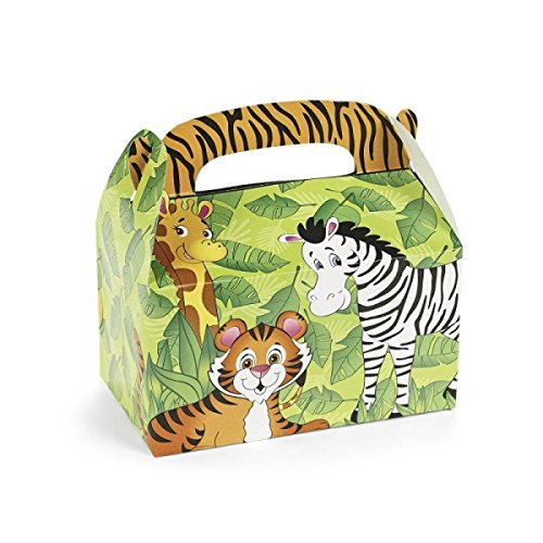 Preisvergleich Produktbild 12 x Schatzkiste Zootiere Tiere Zebra Tiger Kindergeburtstag Zooparty Giraffe Mitgebsel