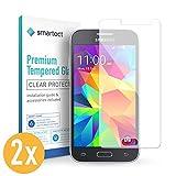 smartect Panzerglas für Samsung Galaxy Grand Prime [2 Stück] - Bildschirmschutz mit 9H Härte - Blasenfreie Schutzfolie - Anti Fingerprint Panzerglasfolie