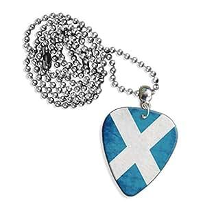 Écosse Drapeau St Andrews Scotland Grunge de Croix Collier Logo de guitare (GD)