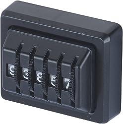 hr-imotion Kilometermerker & Zähler mit 5 mechanischen Ziffern [Made in Germany , selbstklebend] - 10310001