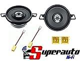 Kit enceintes haut-parleurs pour FIAT PUNTO 98avant 2voies 87mm hertz DCX 87.3