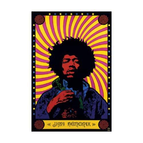Psychedellic poster (Jimi Farben Hendrix)