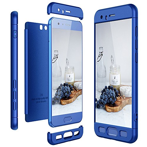 CaseLover Huawei Honor 8 3-in-1 Ultra Dünn 360 Grad Körperschutz Telefon Kasten Harter Fall, Kratzer Beweisst Stoßsicherer Hülle PC Harte Schale Stoßstangen (5.2 Zoll), Blau