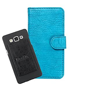 DooDa PU Leather Wallet Flip Case Cover With Card & ID Slots For Huawei Ascend P2 - Back Cover Not Included Peel And Paste