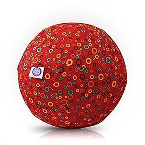 bubabloon BB de 17703Bubbles (Red)–Globo móvil, Rojo Con Colores, varios iedengroßen círculos, 30cm Diámetro , color/modelo surtido