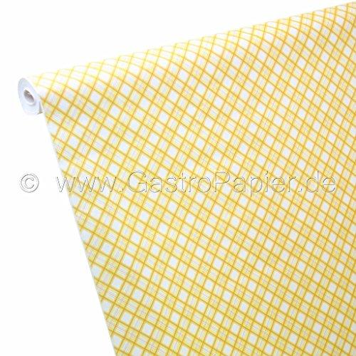 50m x 1,00m Papel Mantel Escoceses cuadros amarillo
