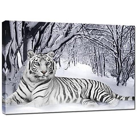 visivo startiger animale tela arte inverno neve stampa tela di