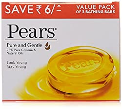 Pears Pure and Gentle Soap Bar, 125g (Pack of 3, Save Rupees 6)
