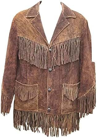 pretty nice 78700 483e0 Indiano mucca giacca di pelle scamosciata degli uomini con ...