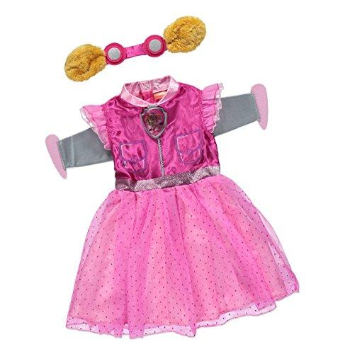 Offizielles Lizenzprodukt Nickelodeon Paw Patrol Skye Verkleidung für Mädchen im Alter von 5-6 Jahren, mit abnehmbaren Flügeln und Haarband mit Brille und OhrenHergestellt für die George-Kollektion.