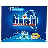 Finish Classic Pastiglie Lavastoviglie, Limone, 3 Confezioni da 32 Tabs