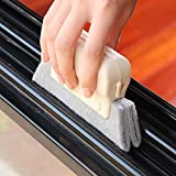 heresell spazzola di pulizia finestra o porta scorrevole pista slot strumento di pulizia tenda Duster davanzale Cleaner Hand Groove Gap spazzola di pulizia colore casuale