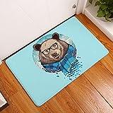 BUKUANG Animal Print Impresión Digital De Esteras De Baño Cocina Baño Estera Absorbente Antideslizante Tira De La Alfombra,6-40*60cm
