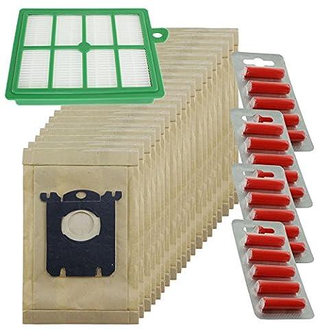 spares2go robuste la poussière Sacs & EFH12Kit filtre pour aspirateur ELECTROLUX Bolido (Lot de 20sacs + 1filtre + 20désodorisants)