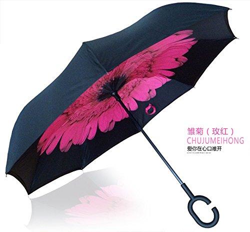 ZP&Rain Inverso del Double-decker bus bar da tre generazioni di creativo inversa ombrello sole lunga maniglia del