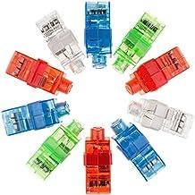 fancyus 100Pcs LED de luz dedo luces Flashlights Up Toys Fiesta Suministros (Varios colores)
