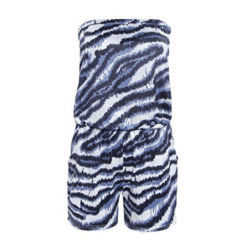 Femmes Mini Robe d'été Robe de Plage Sans Bretelle Combinaisons Salopette Short Pour vacance d'été