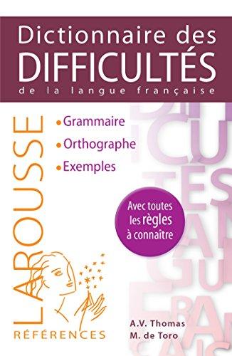 Dictionnaire des difficultés de la langue française par Adolphe V. Thomas