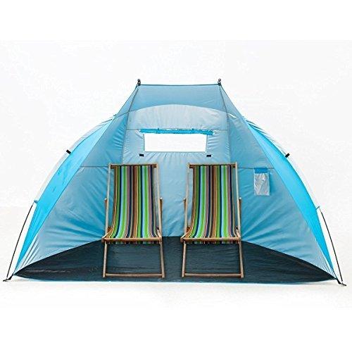 iCorer EasyUp Strand- / Cabana-Zelt, extra groß, 244 cm L x 119,4 cm B x 139,7 cm H, blau, Medio