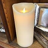 LED Kerzen Moving Flame XXL bewegliche Flamme mit Timer Funktion verschiedenen Größen (15 x 25 cm Echtwachs glatt)